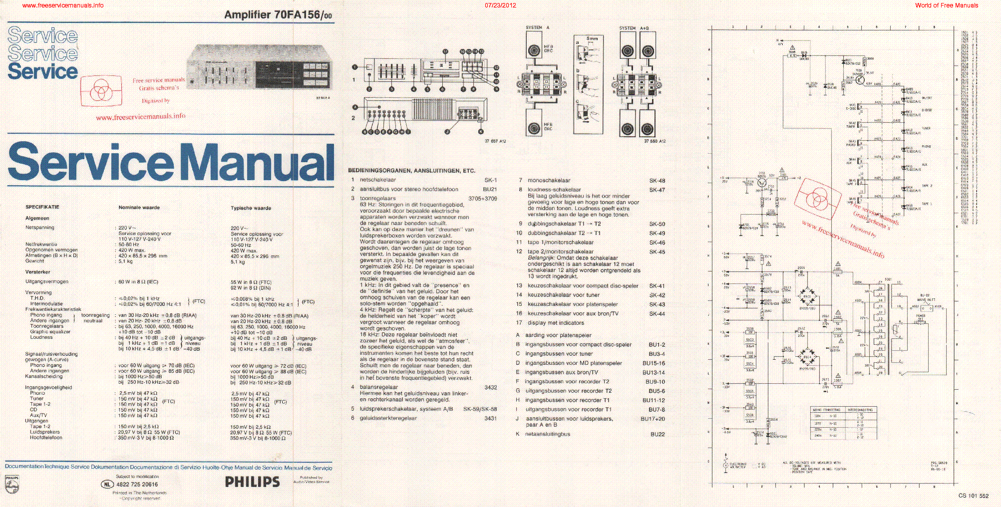Philips FWM572 Series Service Manual Philips
