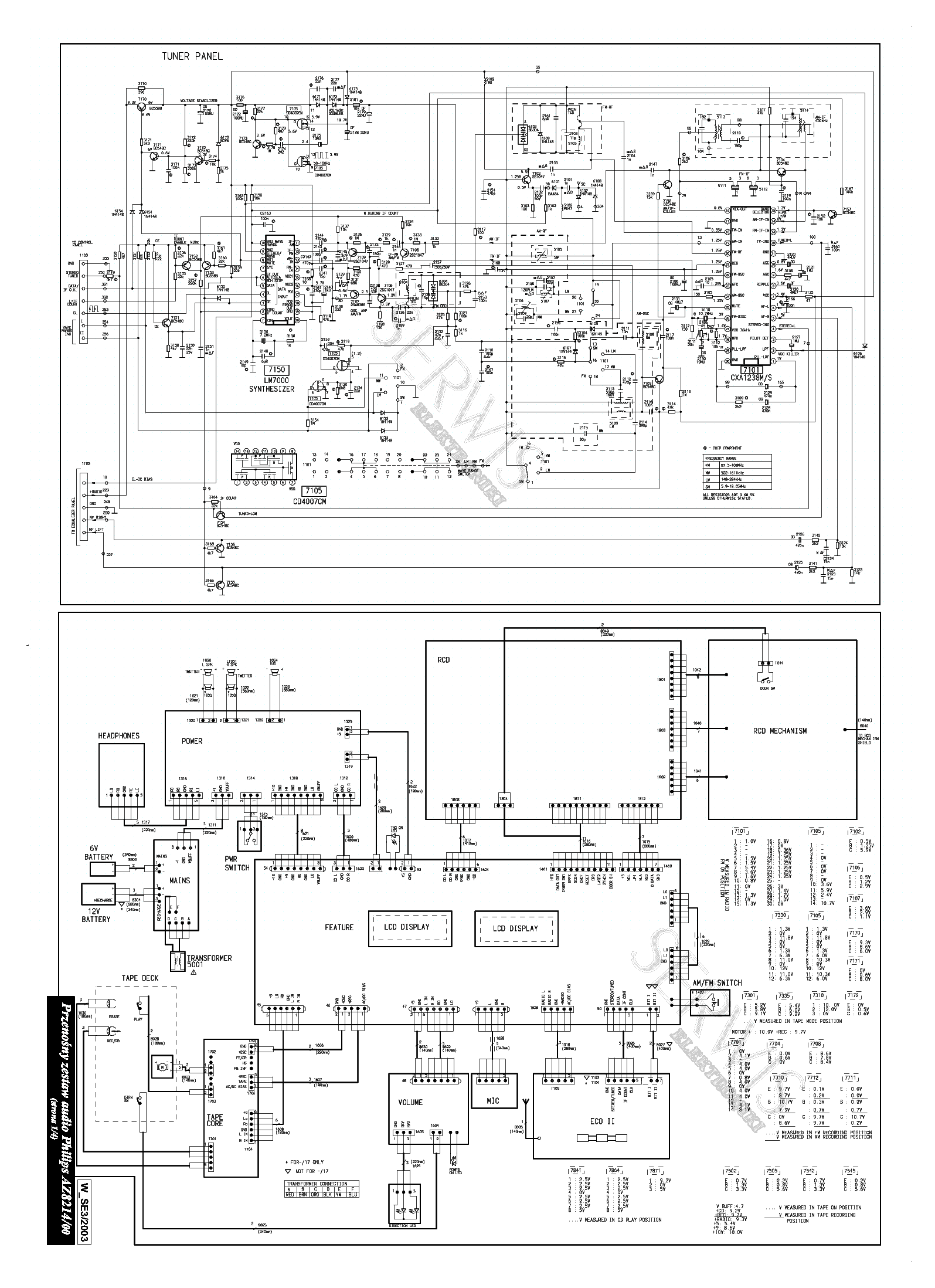 Philips Az8214 Service Manual Download  Schematics  Eeprom