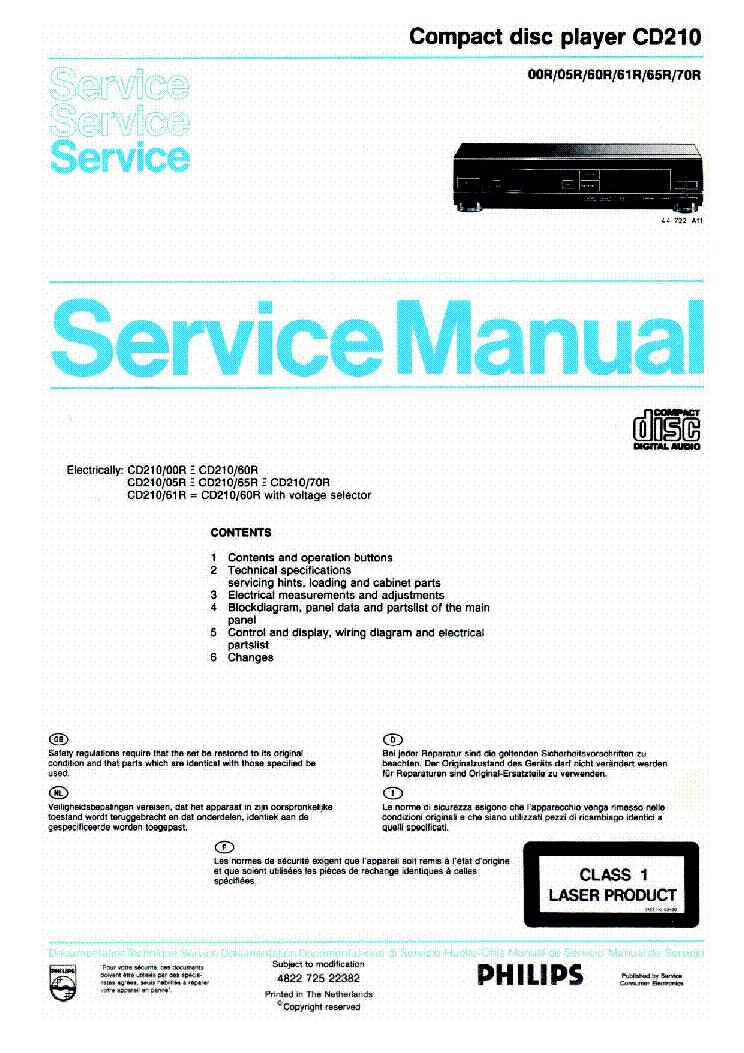 philips cd210 00r 05r 60r 61r 65r 70r sm service manual download rh elektrotanya com Philips Instruction Manuals Philips Universal Remote SRP2003 27 Manual
