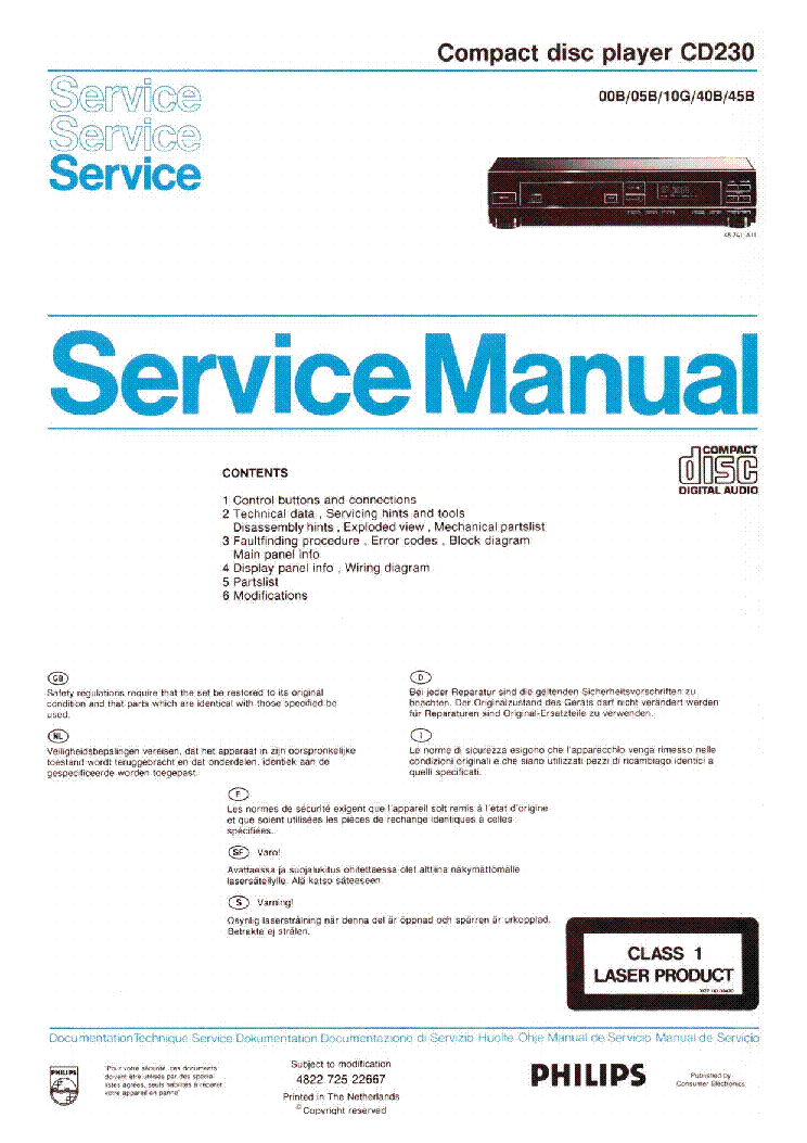 Инструкция philips cd 230