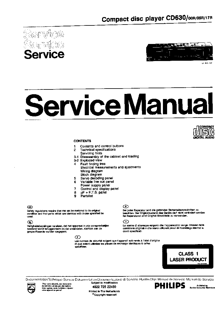 philips cd630 cd player service manual service manual download rh elektrotanya com service manual cdj 2000 service manual cd100 atlas copco