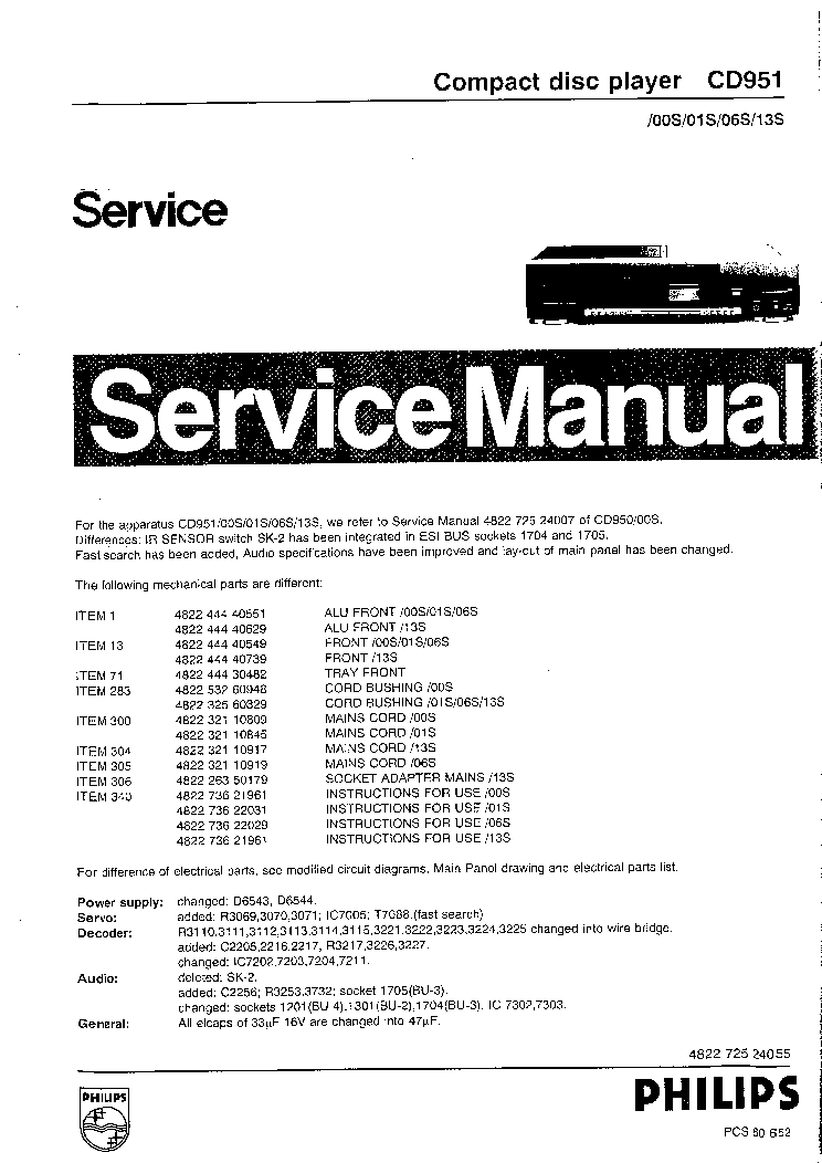 philips cd951 cd player service manual service manual download rh elektrotanya com service manual cdj 400 service manual cd changer toyota alpine