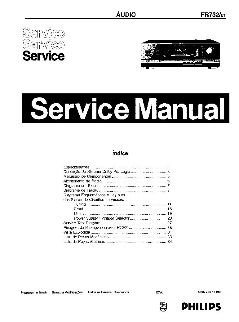 Philips Fr732 Sch Service Manual Download  Schematics