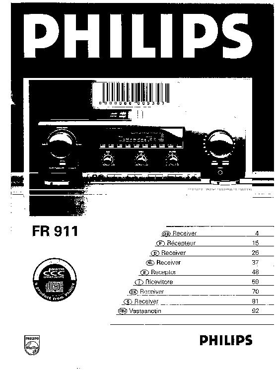 Philips Fr911 Service Manual Download  Schematics  Eeprom