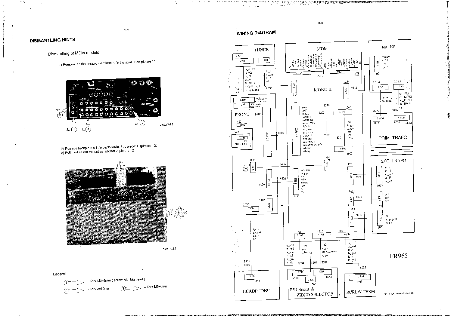 Philips Fr965 Fr966 Sch Service Manual Download Schematics Eeprom Phillips Wiring Diagrams 1st Page