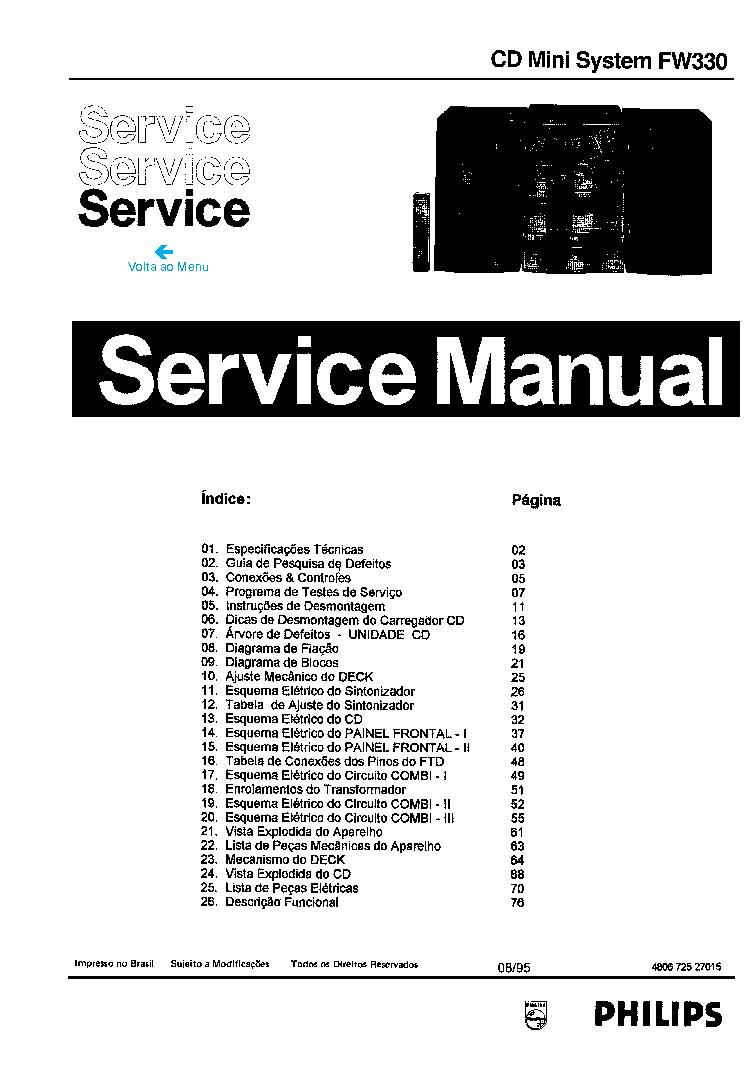 philips fw330 sm service manual download  schematics