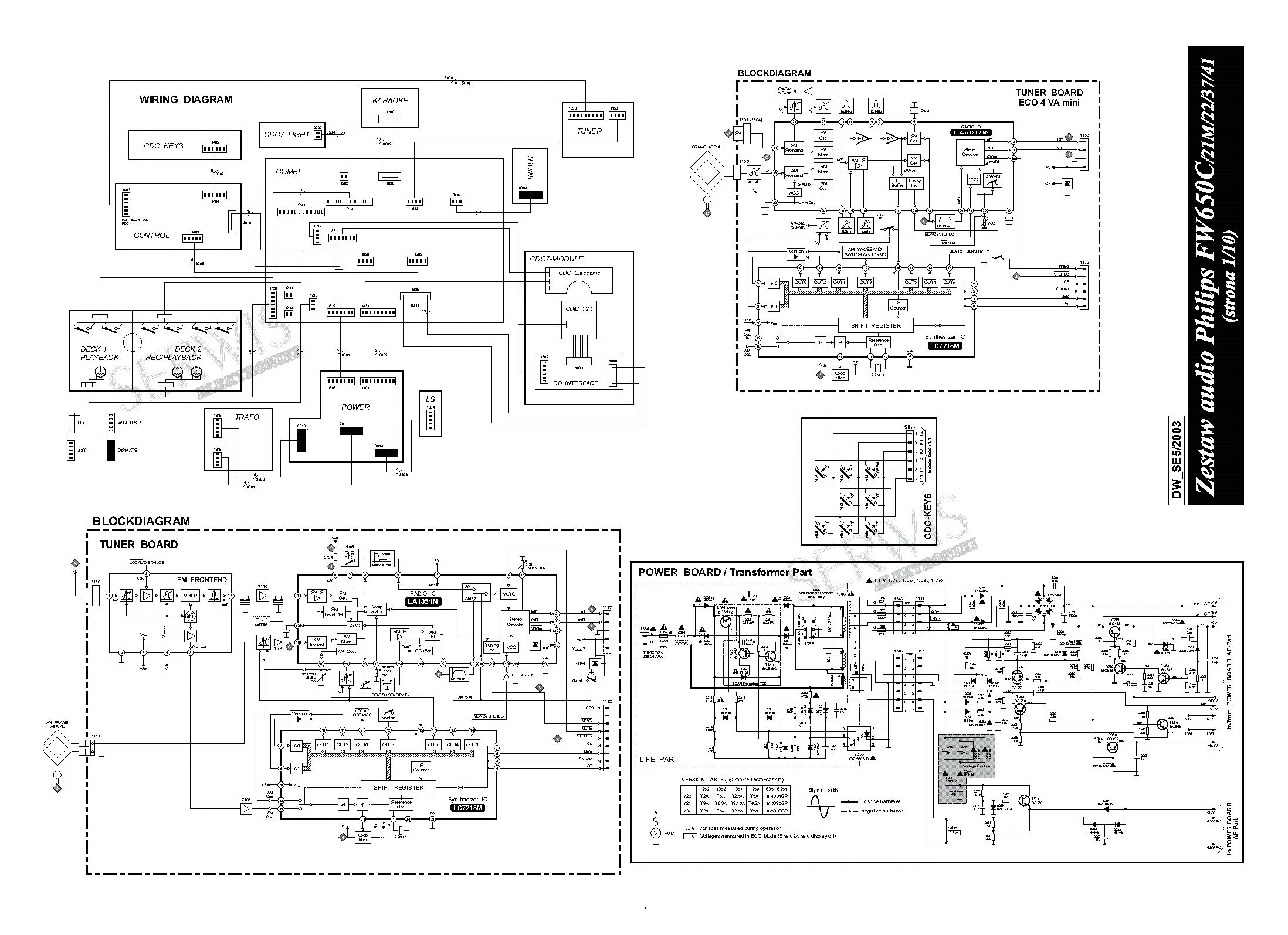 philips fw650c sch service manual download  schematics