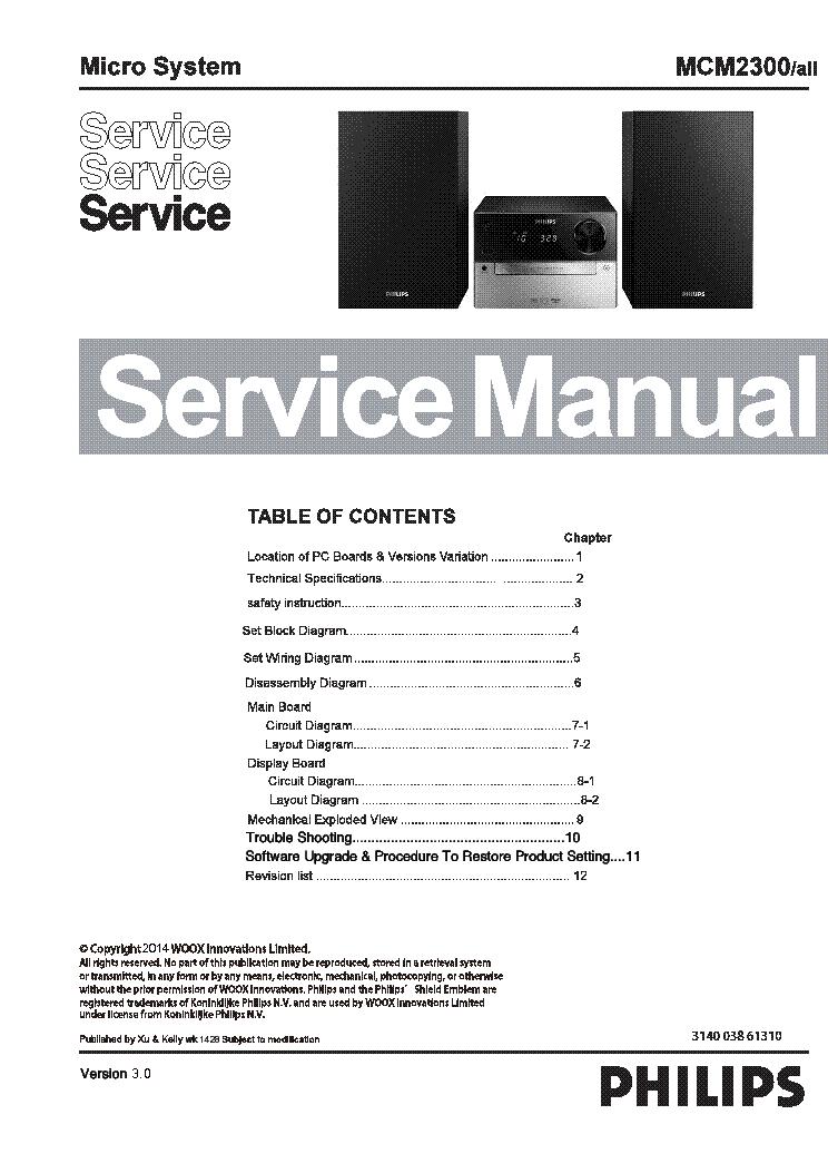 philips mcm2300 ver 3 0 service manual download schematics eeprom rh elektrotanya com 12H802 Manual Truck Manual