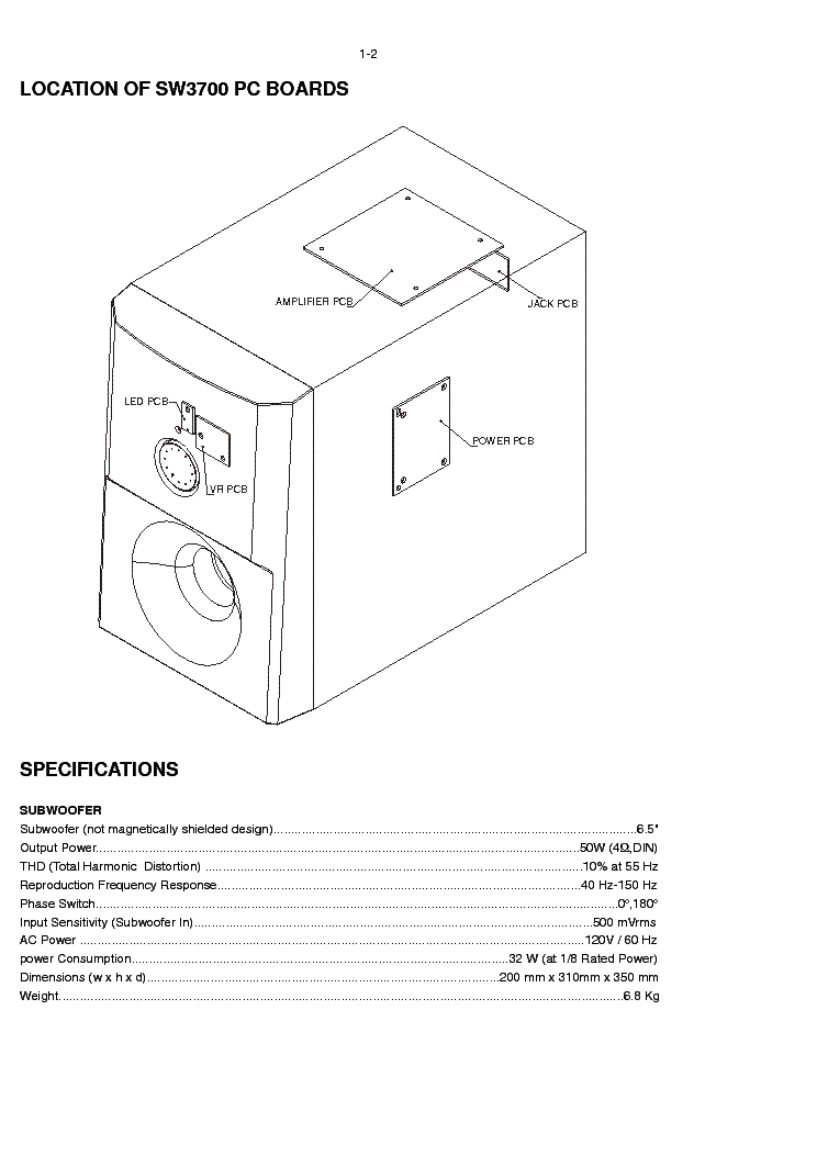 Philips Sw3700 17s Sw3800 00s Sm Service Manual Download Schematics