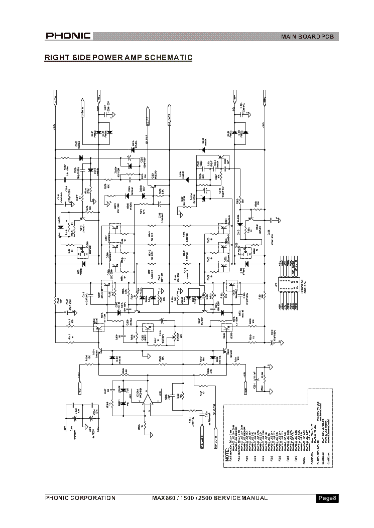 hammond ao 29 amp schematic