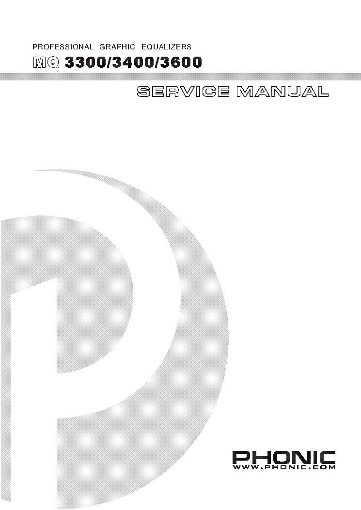 Phonic Mq3300 Mq3400 Mq3600 Ver 2 1 Phonic Mq4130 Verv1 30