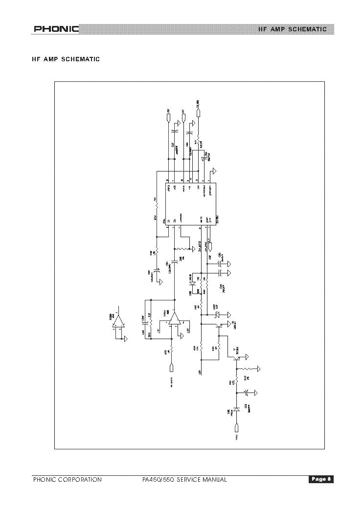 Phonic powerpod 1062 rev. 1 v2. 1 powered mixer service manual.