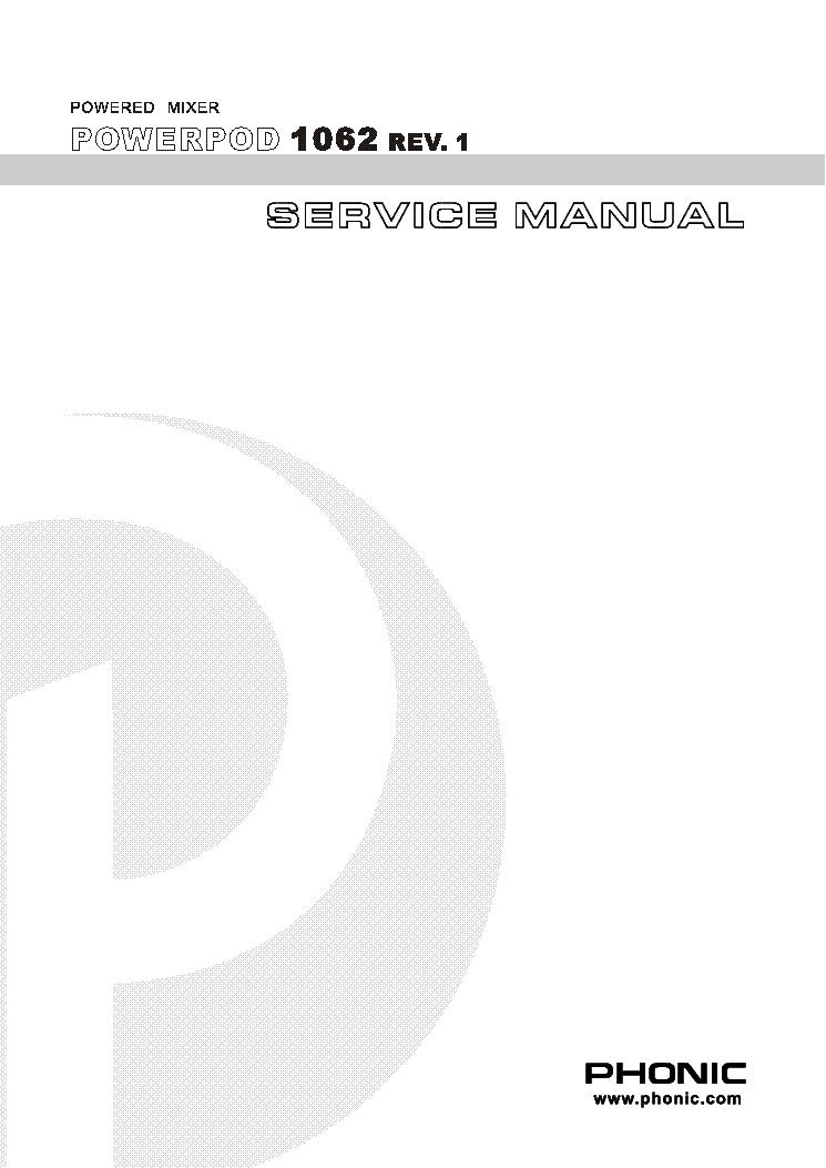 Phonic powerpod 1860 ii user manual.