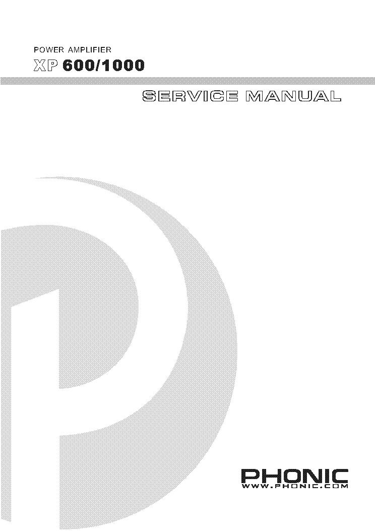 Phonic xp 3000 manuals.