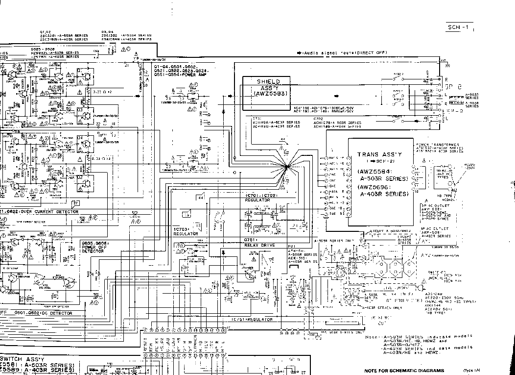 pioneer a 303 a 503r a 403r sch service manual download schematics rh elektrotanya com Pioneer Spec 2 Parts Atari Climber Manual