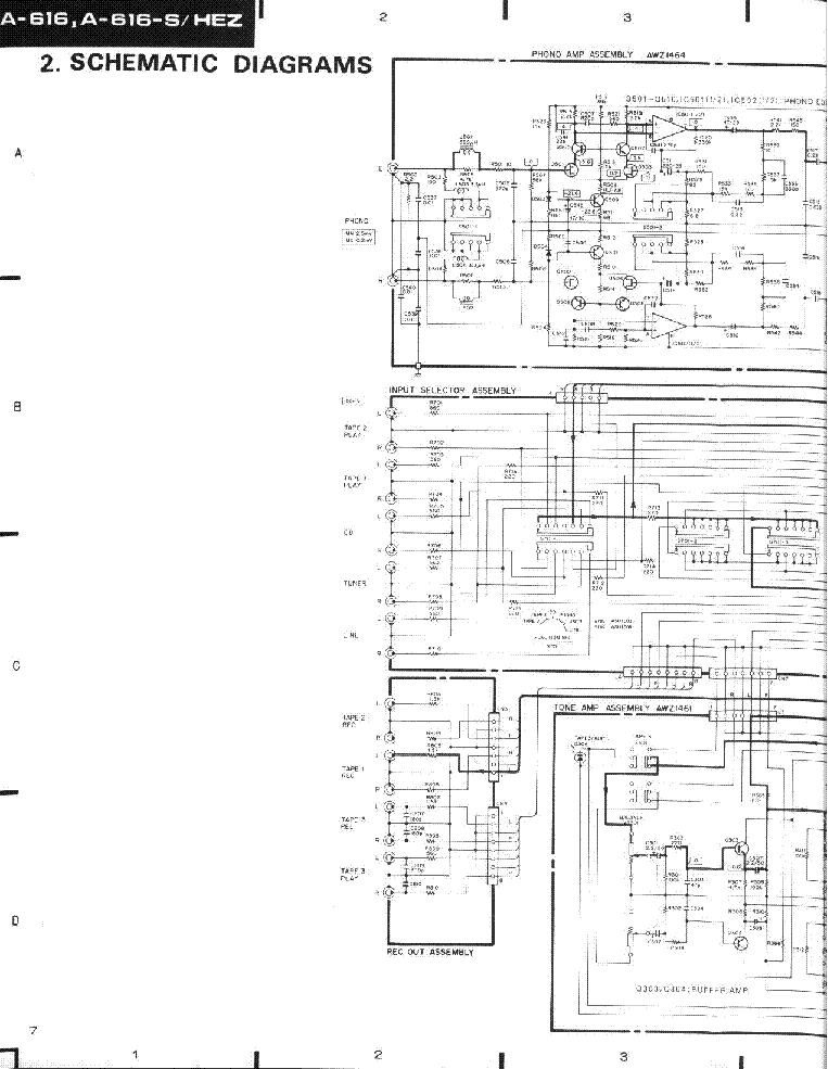PIONEER A-616-S SCH service manual (2nd page)