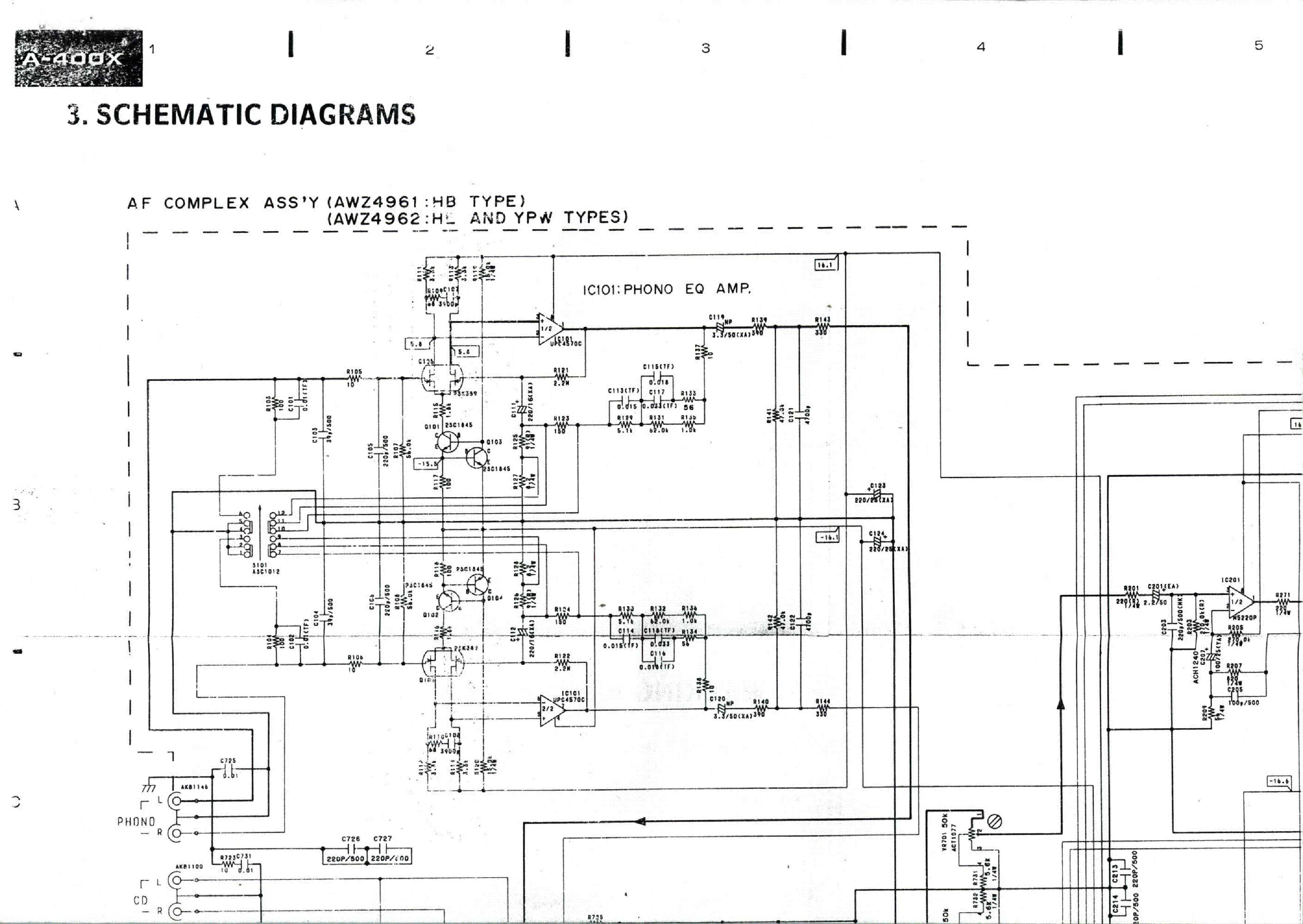 Pioneer A400 A400x Service Manual Download  Schematics