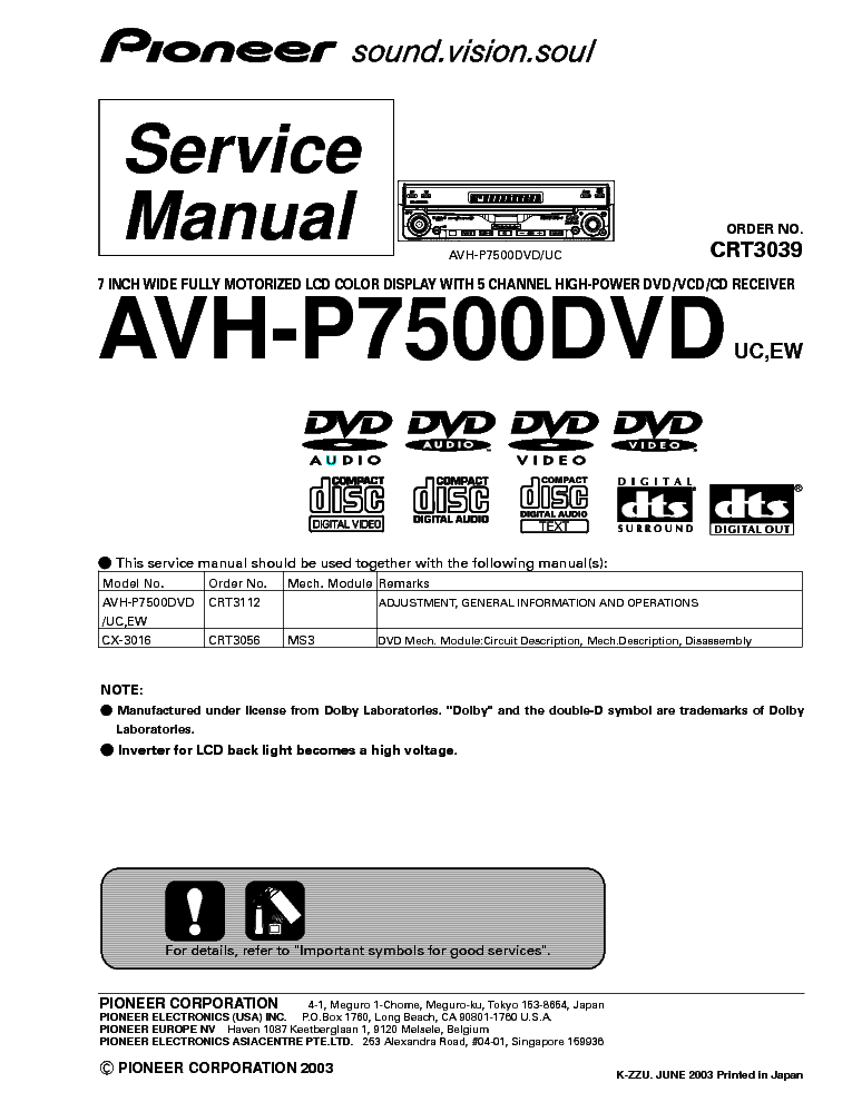 pioneer_avh p7500dvd_crt3039.pdf_1 pioneer ct s610 g sm service manual download, schematics, eeprom pioneer avh p7500dvd wiring diagram at eliteediting.co