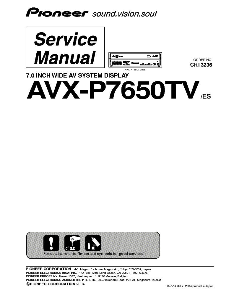 Pioneer avx 7650 manual woodworkers