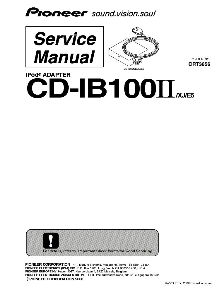 pioneer cd ib100ii manual free owners manual u2022 rh wordworksbysea com Home Receiver Adapter for iPod pioneer cd-ib100 manual