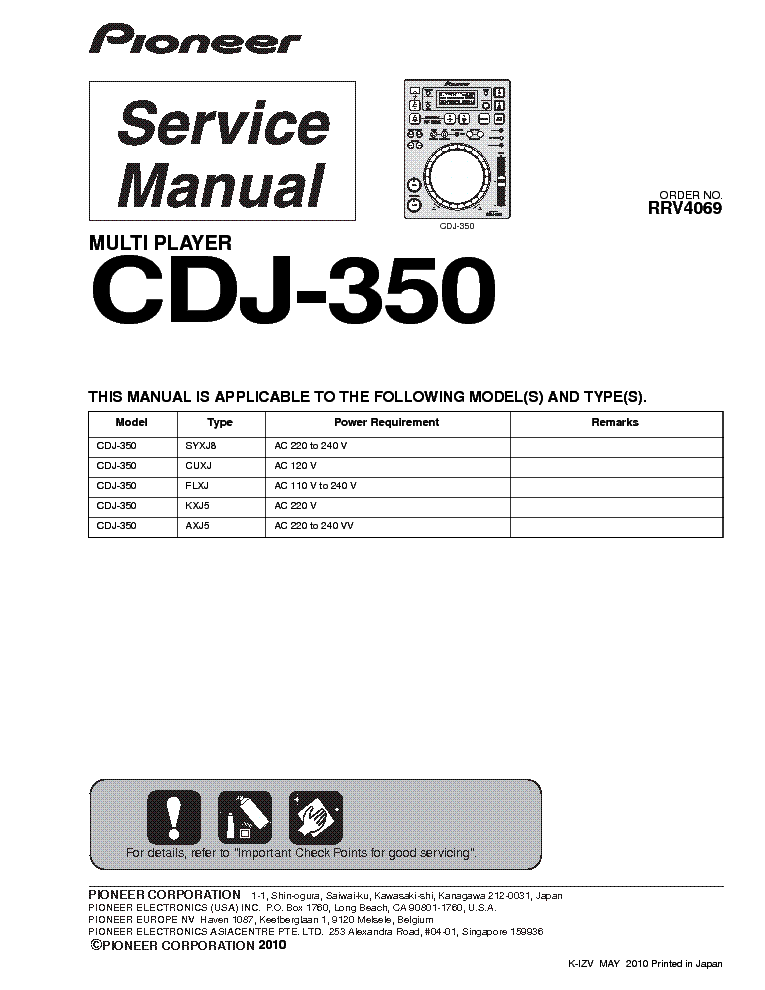 Pioneer cdj 350 инструкция