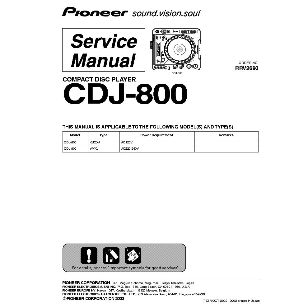 pioneer cdj 800 mk2 manual