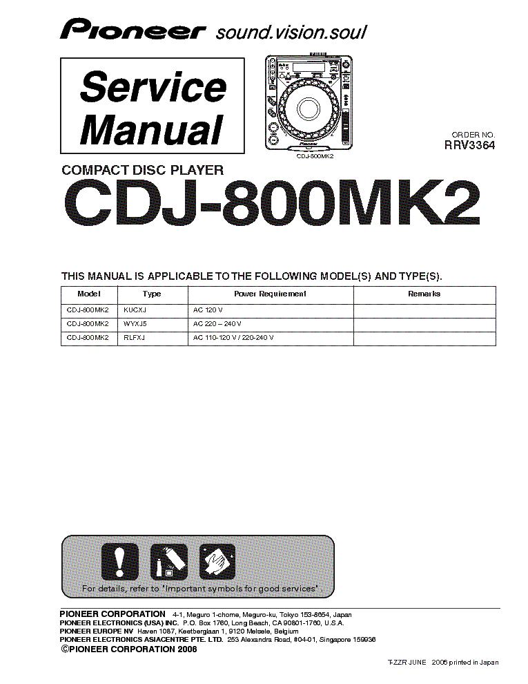 cdj 1000 mk1 service manual