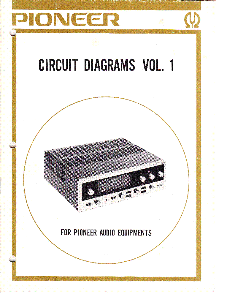 PIONEER CIRCUIT DIAGRAMS VOLUME 1 service manual (1st page)