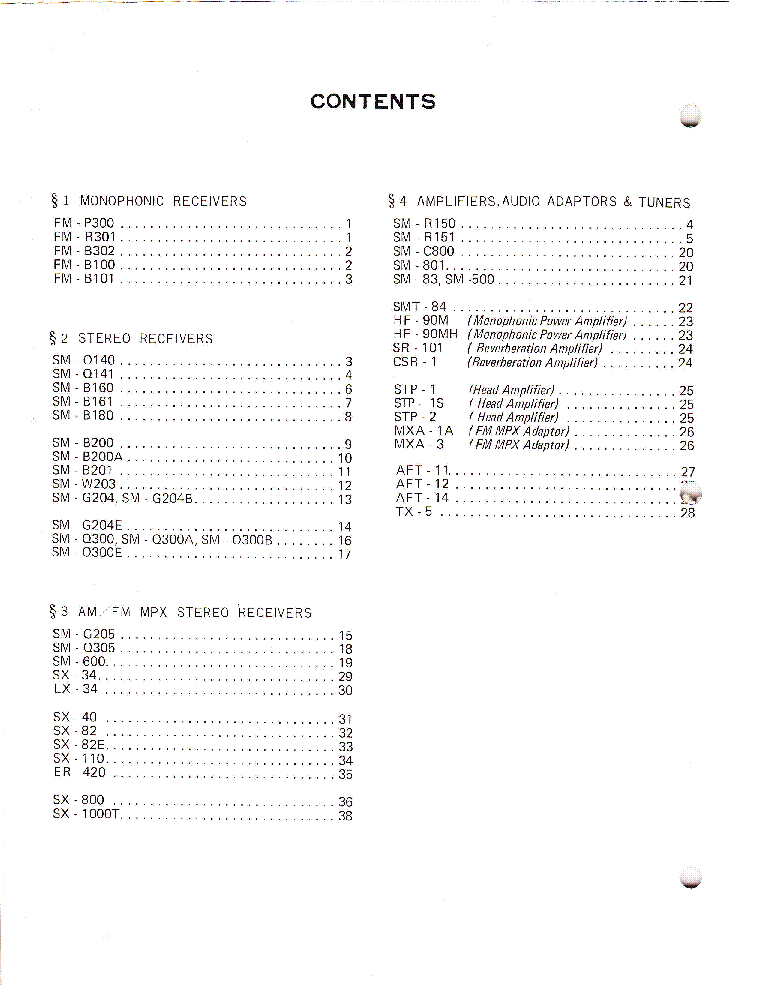 PIONEER CIRCUIT DIAGRAMS VOLUME 1 service manual (2nd page)