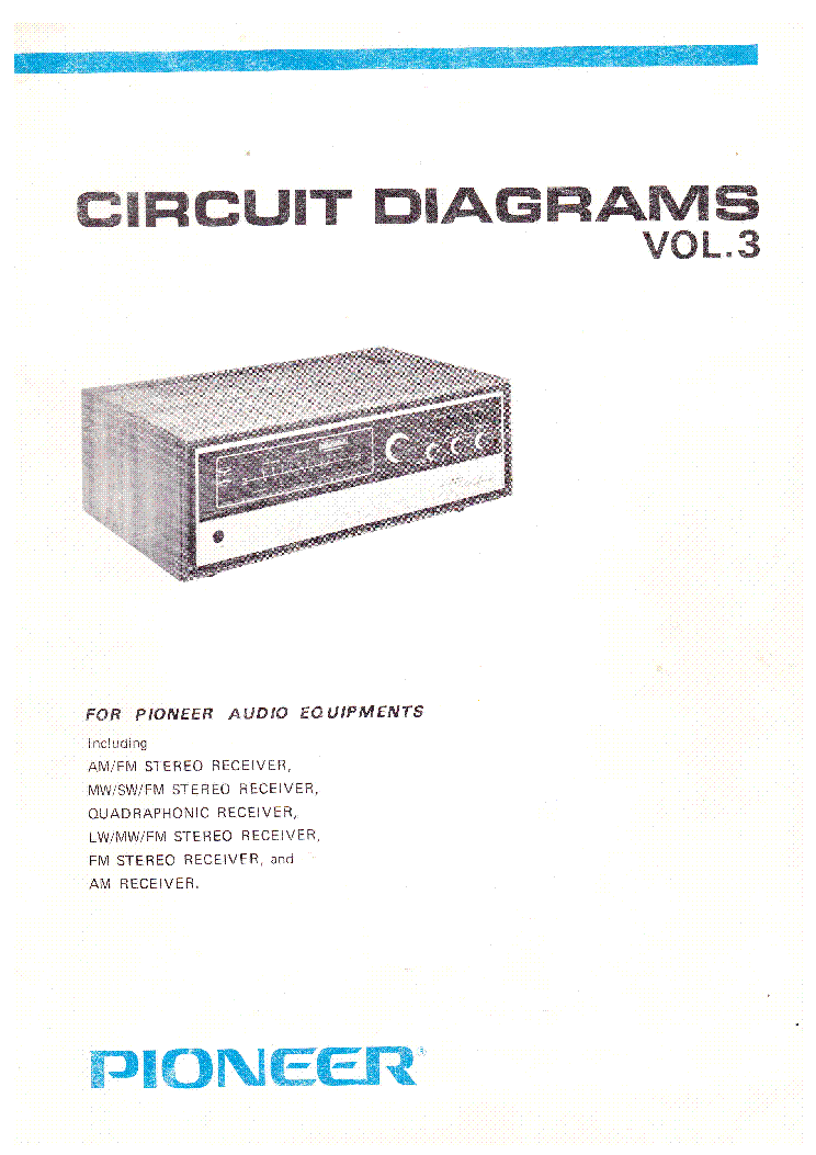 PIONEER CIRCUIT DIAGRAMS VOLUME 3 service manual (1st page)