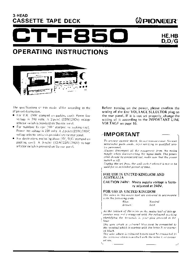 pioneer ct f850 sch service manual download schematics eeprom rh elektrotanya com 1967 Ford F850 Dump Truck 1964 Ford F850 Fire