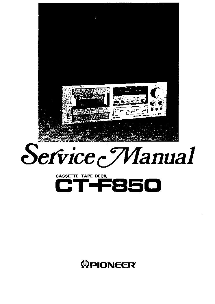 pioneer ct f850 sm service manual download schematics eeprom rh elektrotanya com 2018 F850 Lifted F150