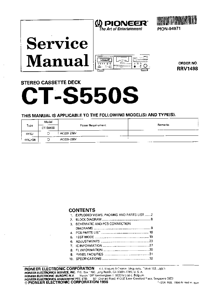 Pioneer Djm-300 Free Service Manual Pdf Download