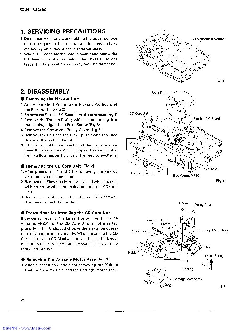 PIONEER CX-652 service manual (2nd page)