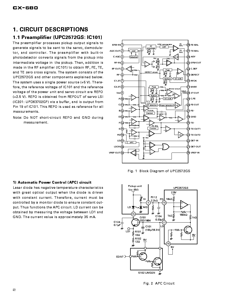 PIONEER CX-680 service manual (2nd page)