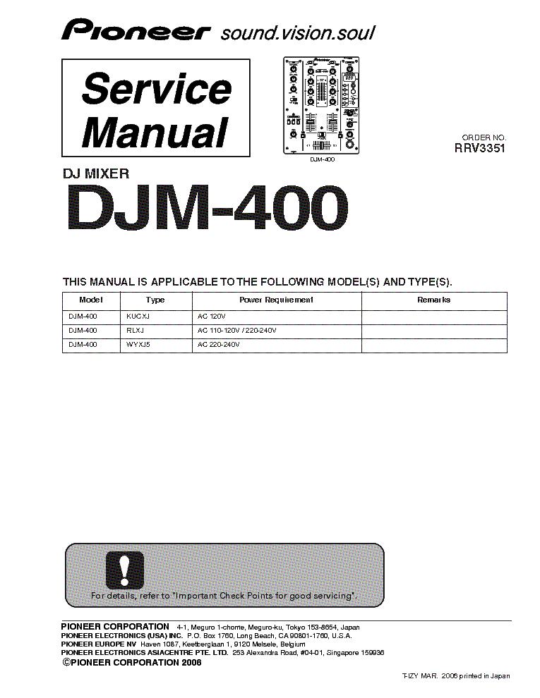 djm 400 service manual daily instruction manual guides u2022 rh testingwordpress co pioneer cdj 400 service manual pioneer cdj 400 manuale italiano