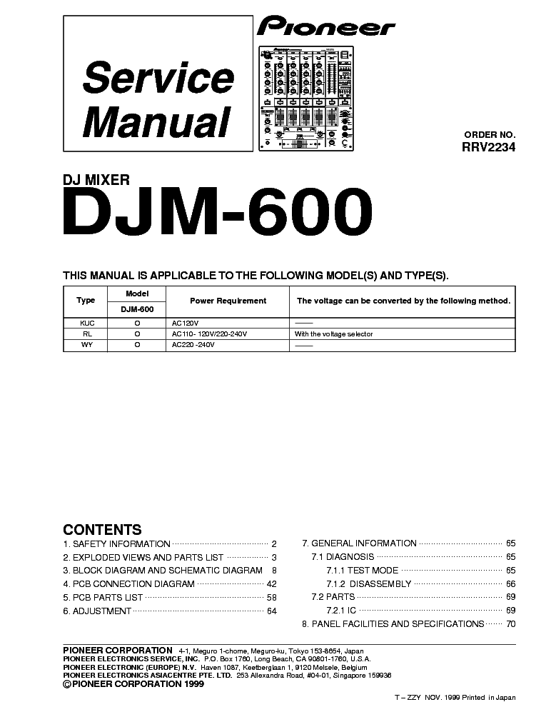pioneer djm 600 service manual download schematics eeprom repair rh elektrotanya com Pioneer DJM- 500 Pioneer DJM 600 Parts