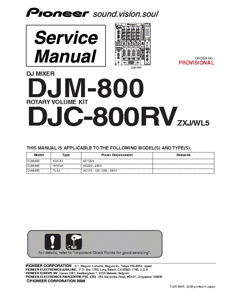 Djm 800 user manual.