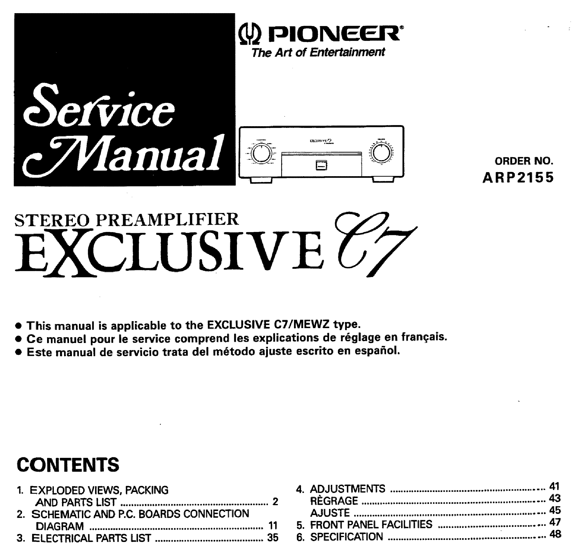 PIONEER XV-DV1000 Service Manual download, schematics