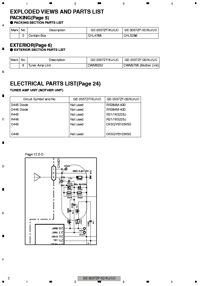 PIONEER GE 2037ZF 02 XU UC service manual (2nd page)