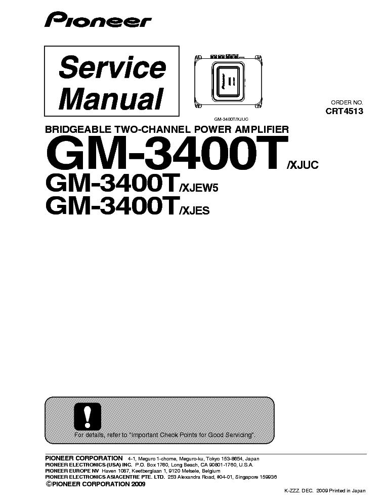 pioneer gm 3400t service manual download schematics eeprom repair rh elektrotanya com