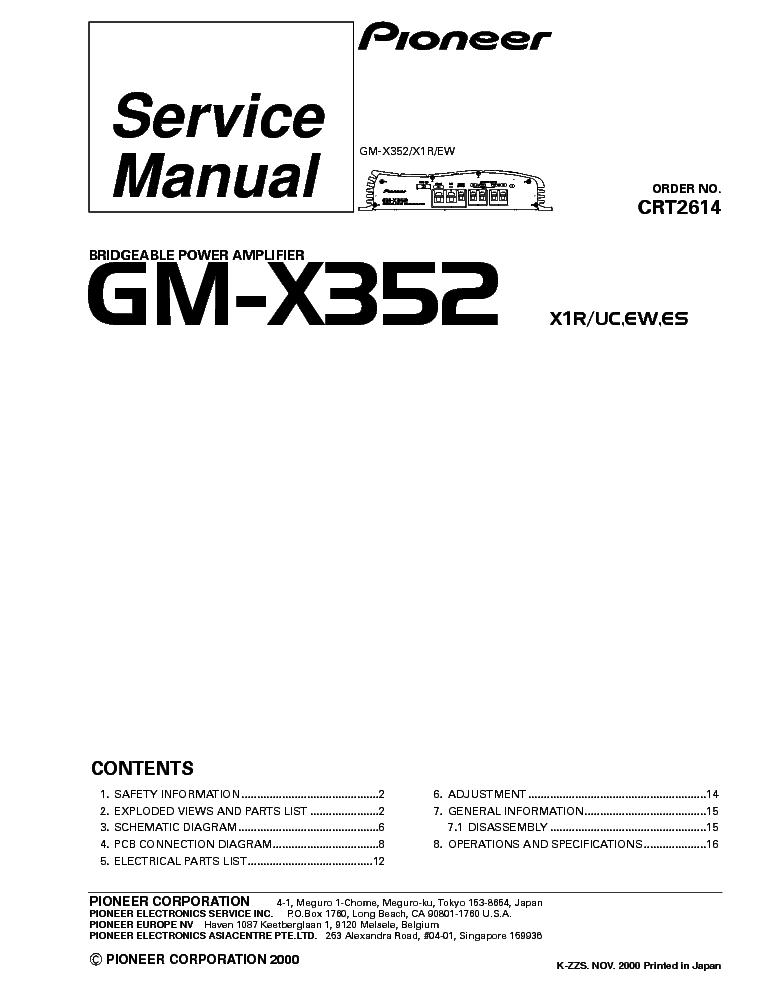 pioneer gm x352 amplifier wiring diagram gm x352 wiring pioneer pioneer gm x352 amplifier wiring diagram pioneer gm x352 service manual schematics eeprom
