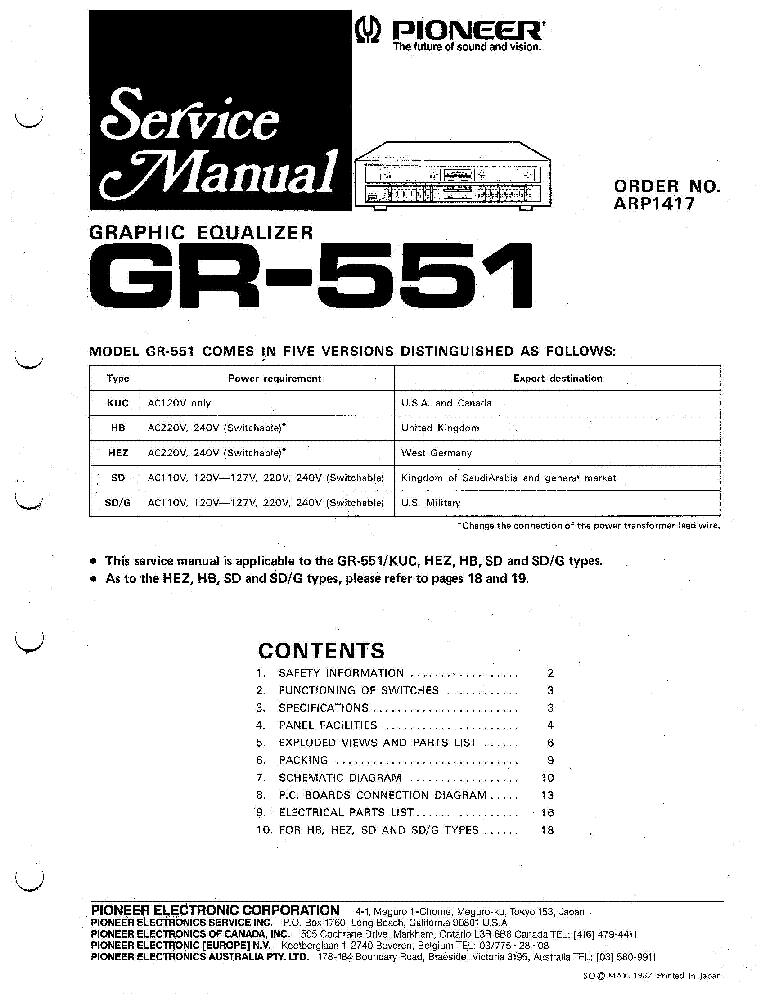 Pioneer gr-555 инструкция на русском