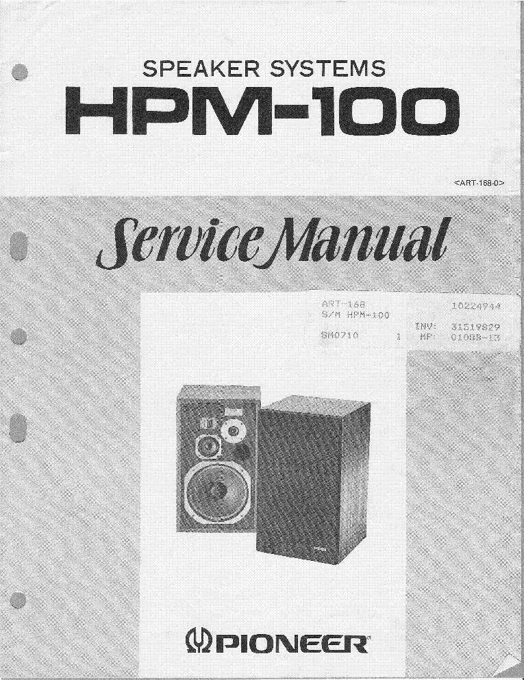 PIONEER HPM-100 SM service manual (1st page)