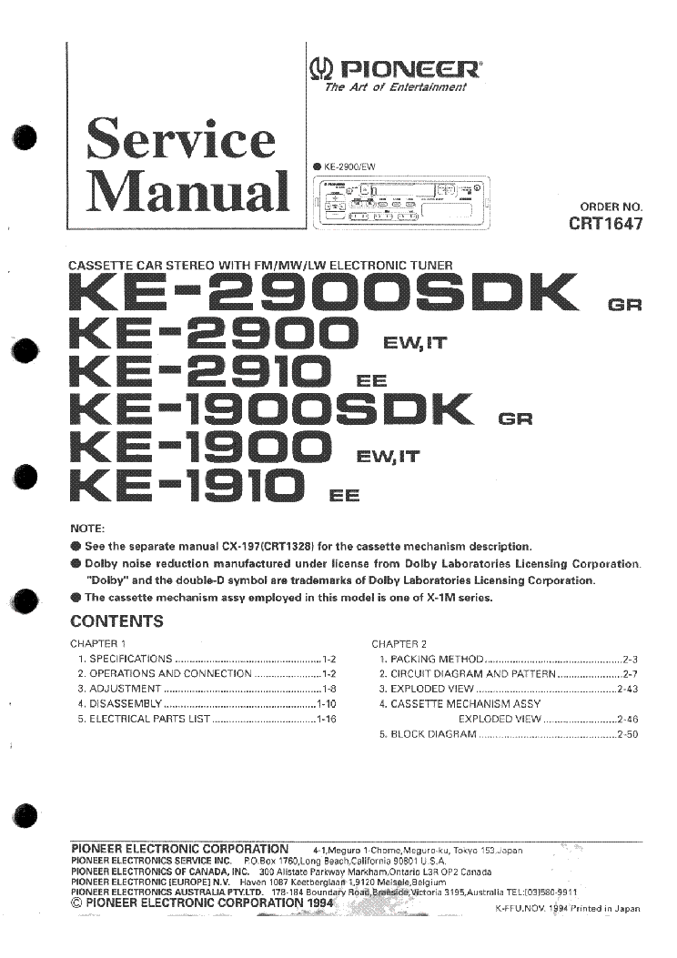 pioneer_ke 1900_ke 1910_ke 2900_ke 2910_sm.pdf_1 pioneer ke 1900 ke 1910 ke 2900 ke 2910 sm service manual download pioneer ke 1900 wire diagram at reclaimingppi.co