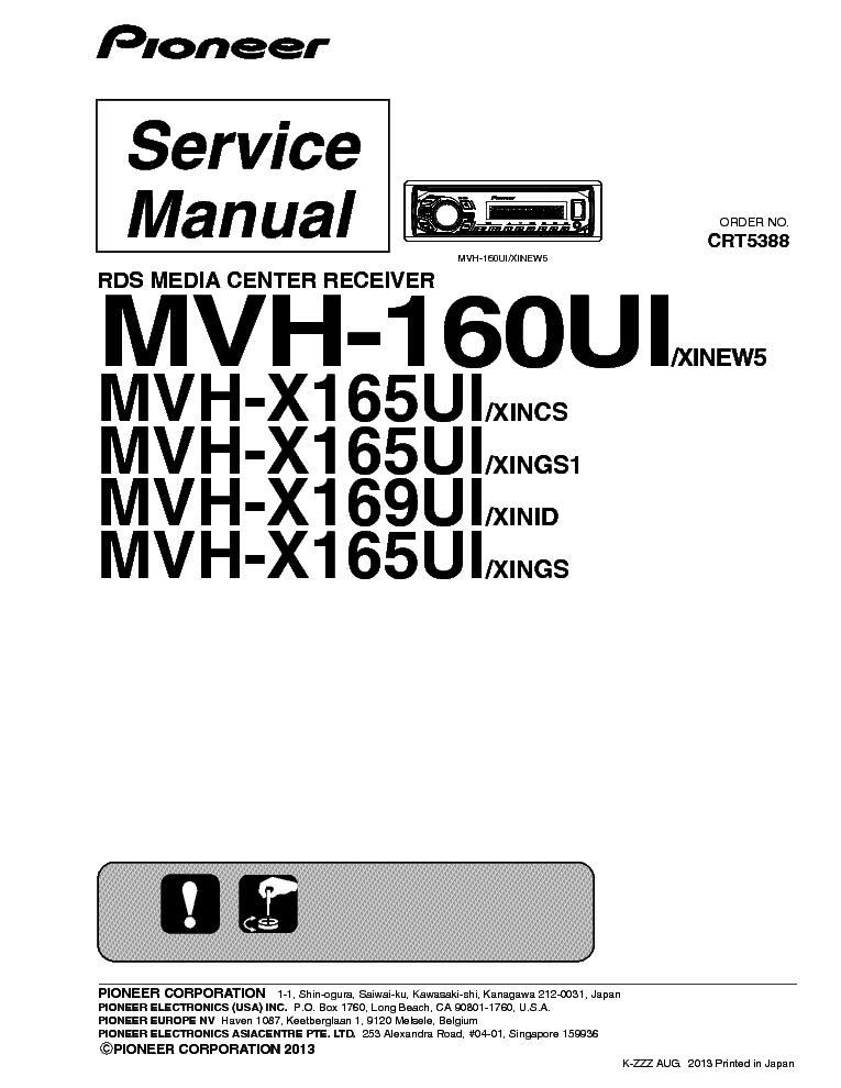 инструкция Pioneer Mvh-160ui - фото 2