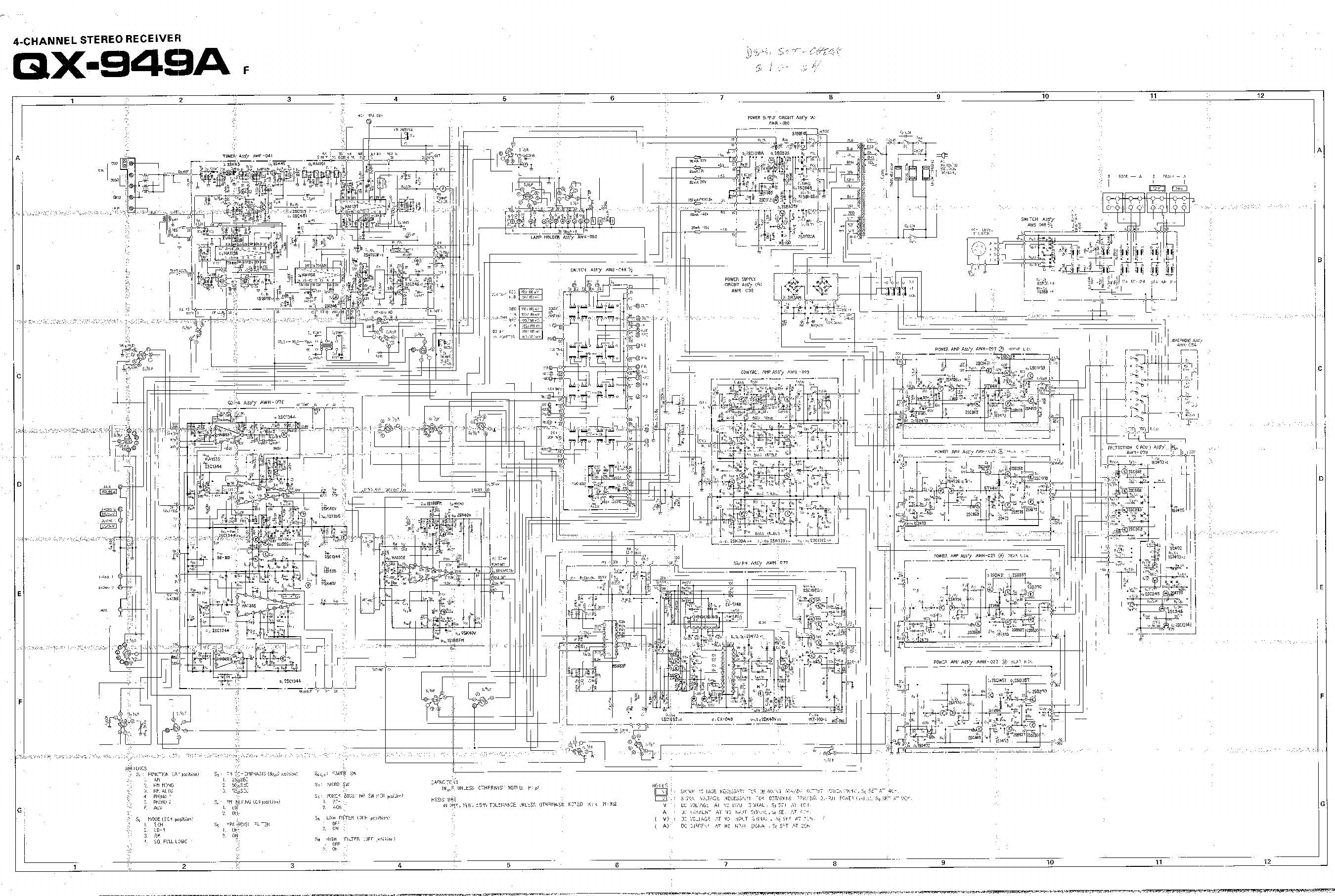 Sch A670 Wiring Diagram 4k Wallpapers Design Source · a670 pioneer qx 949a sch service manual