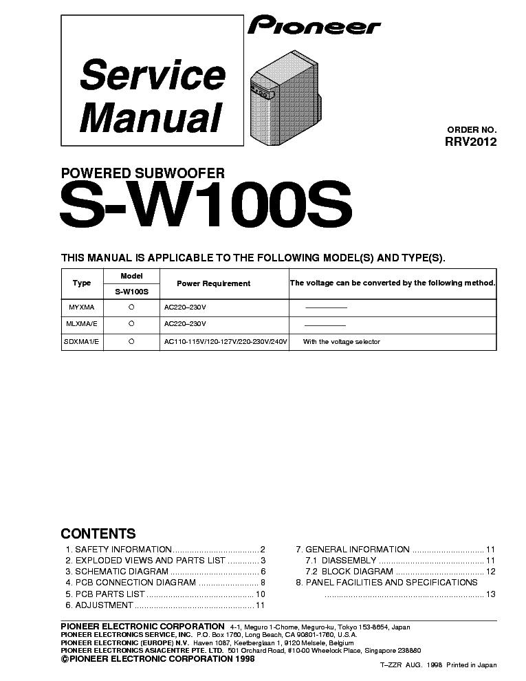 pioneer a209 a209r au service manual download schematics eeprom rh elektrotanya com Atari Climber Manual 2600 Pioneer Man Working