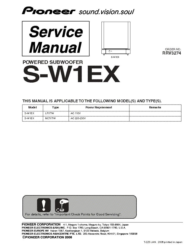 Pioneer Ct 6r Owners Manual