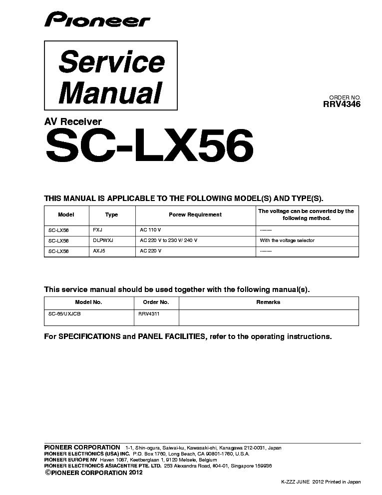 инструкция Pioneer Sc-lx56 - фото 8
